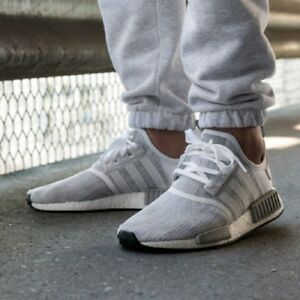 low priced 3c8ba be1e5 Details about ADIDAS ORIGINALS NMD R1 White/Grey MEN'S COMFY SHOES  LIFESTYLE SNEAKERS