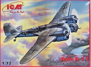 ICM-Avia-B-71-Luftwaffe-German-Air-Force-WW-II-Flugzeug-Bausatz-1-72-72163-NEU