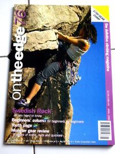 76 On The Edge Magazine Ote Escalade Alpin Alpinisme-afficher Le Titre D'origine Soulager Le Rhumatisme Et Le Froid