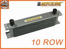 "AeroLine 10 Row Alloy Oil Cooler 1/2"" BSP Fast Road & Race UNIVERSAL"