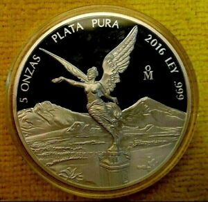 2018 2 oz Silver Libertad 2 Onzas Plata Pura PROOF Coin in Capsule ONLY 5000 pcs
