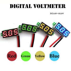 Details about New DC 0-30V 2 Wire LED Display Car Digital Voltage Voltmeter on
