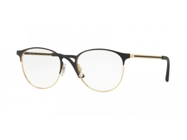 heißer Verkauf online günstigen preis genießen letzte Auswahl Ray-Ban RX 6375 2890 Gold auf schwarz Metall rund Brille 51mm