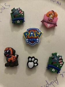 Paw-Patrol-Lot-Of-6-Crocs-Shoe-Bracelet-Lace-Adapter-Charms-Jibbitz