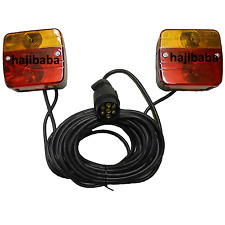 Trailer Magnetic Caravan Rear Towing Lights Lamps Board 7.5M + 2.5M Cable + Plug