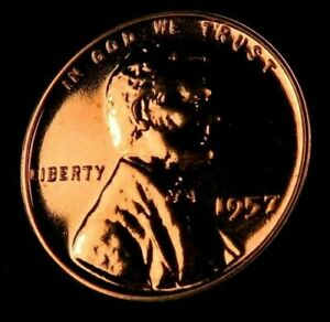 1) 1957 Wheat Penny // Gem Proof *Red* // 1 Coin   eBay