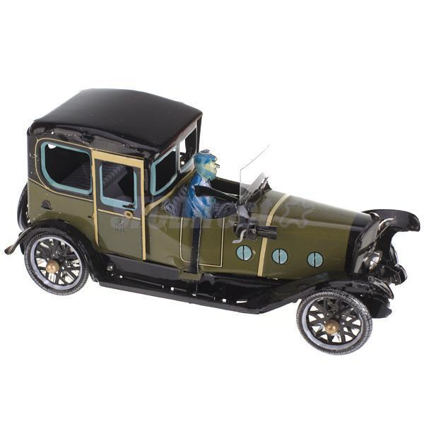 Retro Wind up Chauffer Driven Saloon Touring Car Sedan Toy Gift Home Decoration