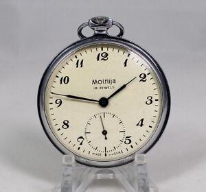 Vintage MOLNIJA MOLNIA Pocket Watch 1960's PERFECT