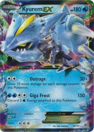 Kyurem-EX - 30/101 - Ultra Rare Black & White 10: Plasma Blast Pokemon NM