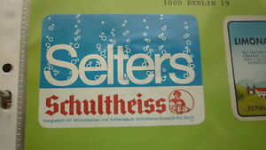 OLD-GERMAN-SOFT-DRINK-CORDIAL-LABEL-SCHULTHEISS-BREWERY-BERLIN-SELTERS