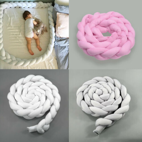 2M Kids Baby Plush Crib Car Bed Linen Cot Braid Pillow Pad Protection Newly