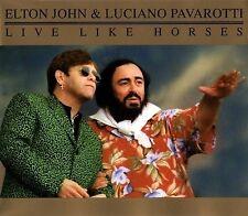 Elton John & Luciano Pavarotti Maxi CD Live Like Horses - Europe