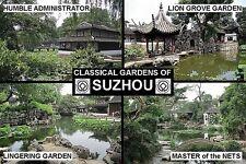 SOUVENIR FRIDGE MAGNET of SUZHOU GARDENS CHINA UNESCO