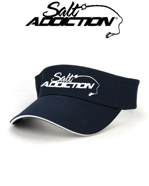 Salt Addiction Saltwater Fishing visor hat,Flats,ocean,deep sea,rod,life,reel