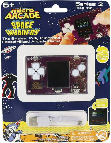 Micro Arcade Space Invaders Pocket Sized Arcade Game
