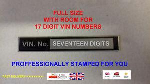 STAMPED-Chassis-VIN-plate-for-LAMBRETTA-VESPA-quad-bike-boat-car-catering-ID