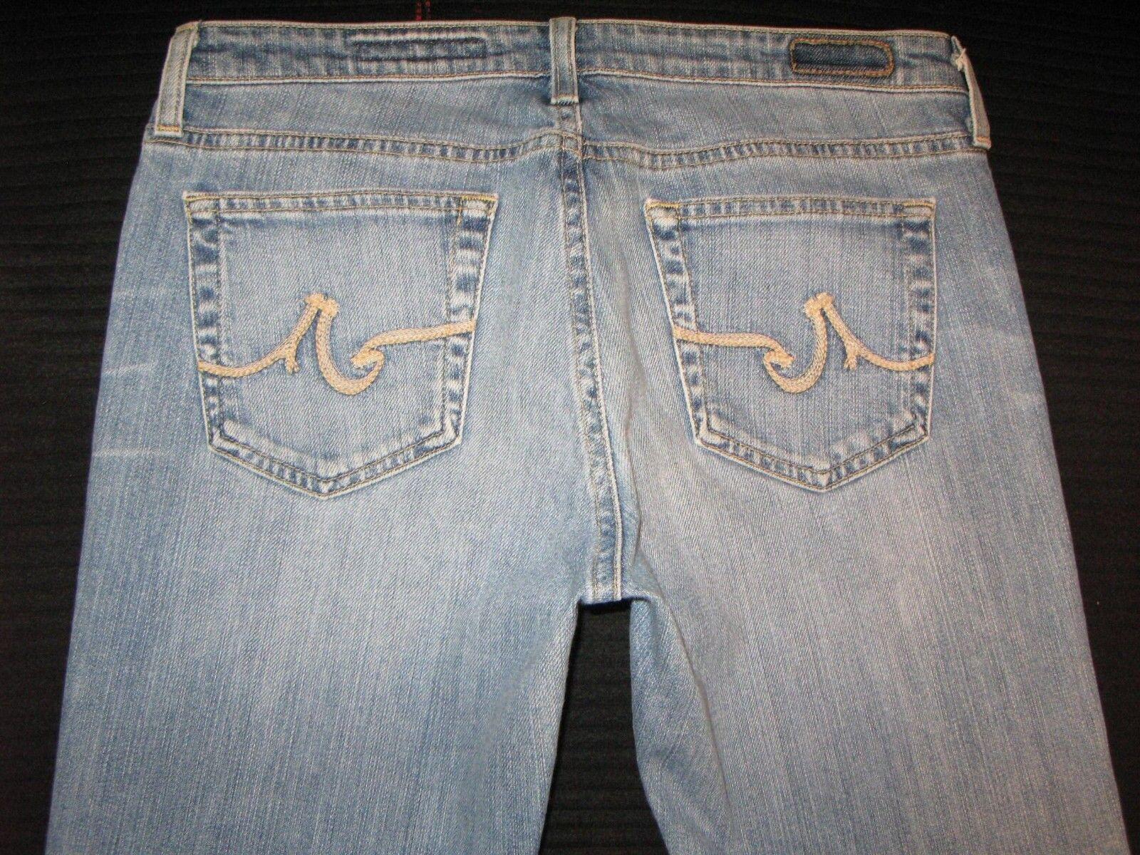 AG ADRIANO goldSCHMIED The Angel Jeans Sz 30 Low Bootcut w Stretch Distressed