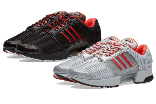 new styles 5ee21 dfebb Mens Adidas Originals Climacool 1 Coca Cola Trainer Shoes Black Red Silver  White