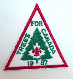 Trees-for-Canada-Patch-1987-BSA-Boy-Scouts-of-America-Retro