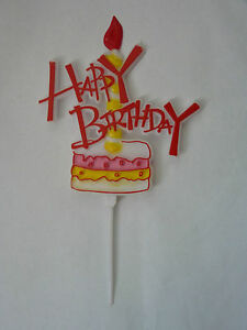 Tremendous Happy Birthday Cake Topper Pick Funky Writing With Cake And Personalised Birthday Cards Arneslily Jamesorg