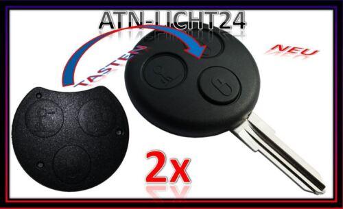 Tasten Knopf für Smart ForTwo 450 451 A136 2x Tastenfeld Schlüssel Gehäuse 3T
