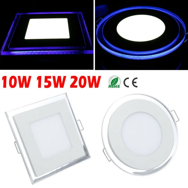 LED Panel 10W/15W/20W Down Light Recessed Ceiling AC85V-265V Warm Cool White New