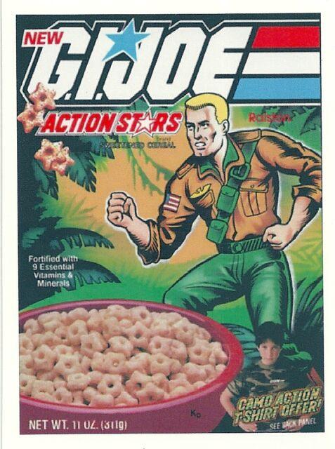 G.I. JOE Cereal Box Retro Vintage HQ  Fridge Magnet