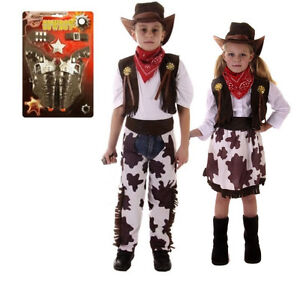 Image is loading Boys-Girls-Kids-Cowboy-Outfit-Fancy-Dress-Costume-  sc 1 st  eBay & Boys Girls Kids Cowboy Outfit Fancy Dress Costume Children Party ...