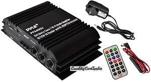 NEW Pyle PFA400U 100W Class T Hi-Fi Amplifier USB/SD iPod Player W/ AC ADAPTER