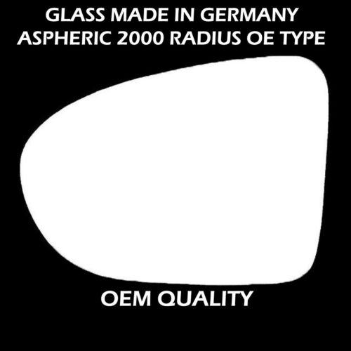 For Nissan Qashqai 2006 To 2013 left Side Wing Mirror Glass Silver