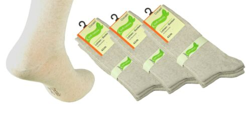 4 8 oder 12 Paar Damen Herren Leinen Socke Leinensocken Gesundheits Diabetiker