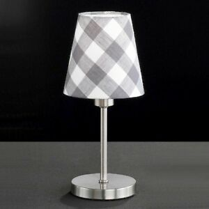 Honsel-Table-Desk-Lamp-Greta-1-Flg-Nickel-Switch-Cloth-Screen-E14-Grey-White