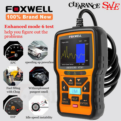 100/% NEW Universal Car Code Reader Foxwell NT301 OBD2 Scanner Diagnostic Tool
