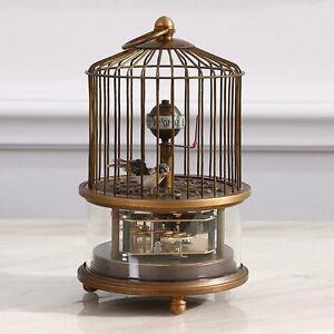 Rare brass birdcage Mechanical Table Clock