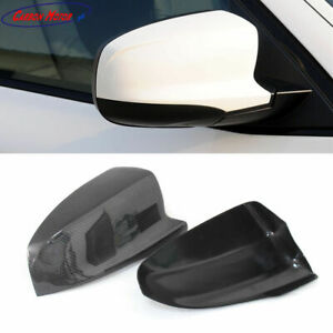 Real Carbon Fiber Side Mirror Covers Fit for BMW X5M E70 X6M E71 Pair tape on