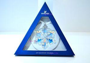 swarovski 25th anniversary christmas ornament limited 5258537