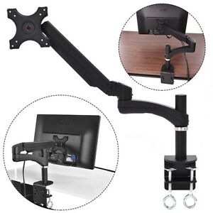 TV-LCD-Single-Arm-Monitor-Desk-Mount-Stand-Swivel-Gas-Spring-1-Screen-Up-27-034-US