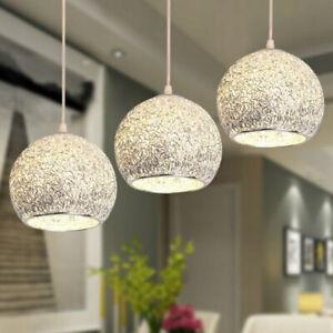 2xPendellampe-Glamour-Silber-Kugel-Haengeleuchte-Retroleuchte-Loft-E27-2-flammig