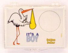 Edgar Marcus Snaplock Silver Eagle Coin Its A Boy Stork New Baby Born Gift Case