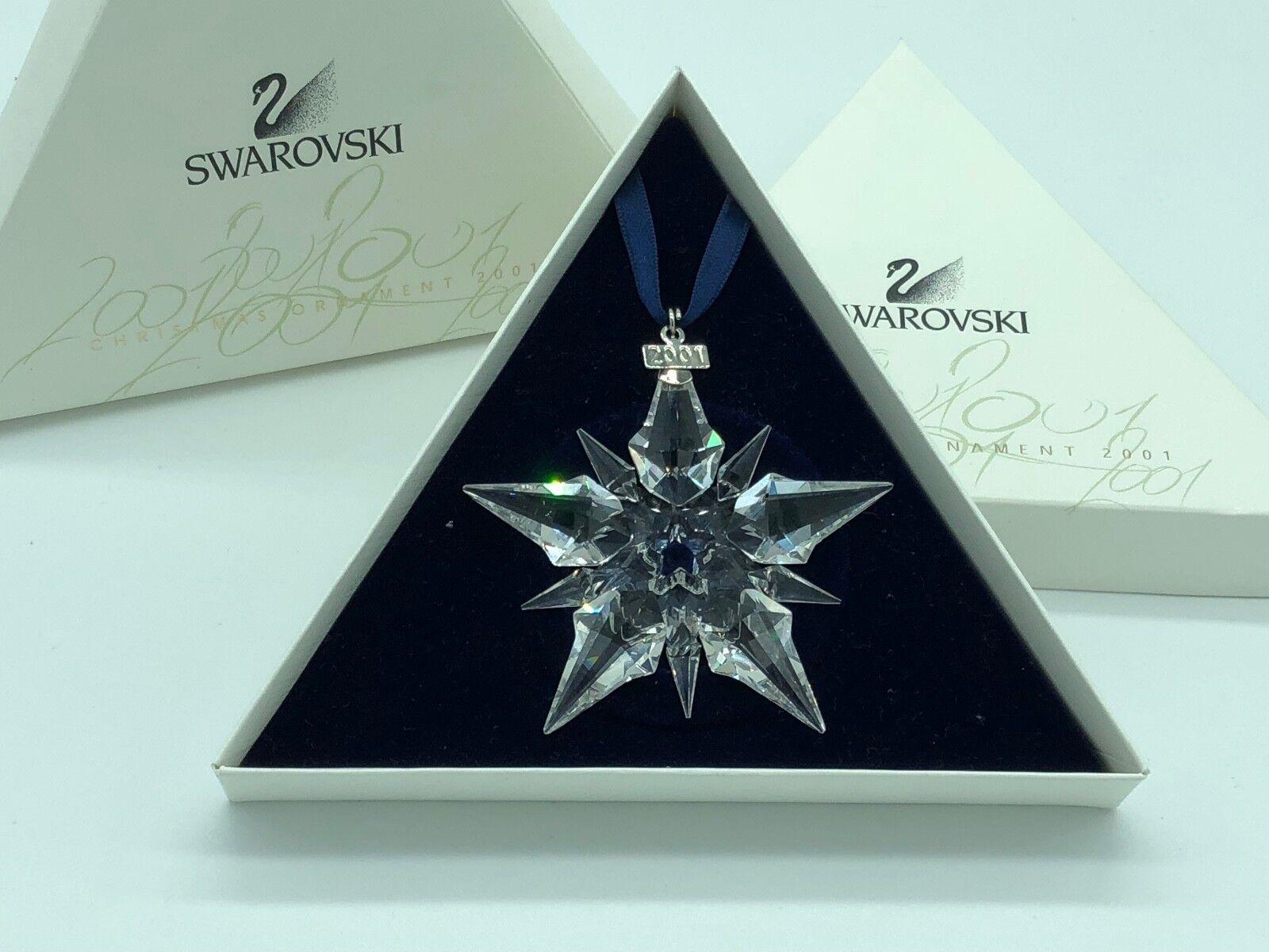 Swarovski De Noël étoile 2001 Avec Avec 2001 Emballage. Excellent état 75264d