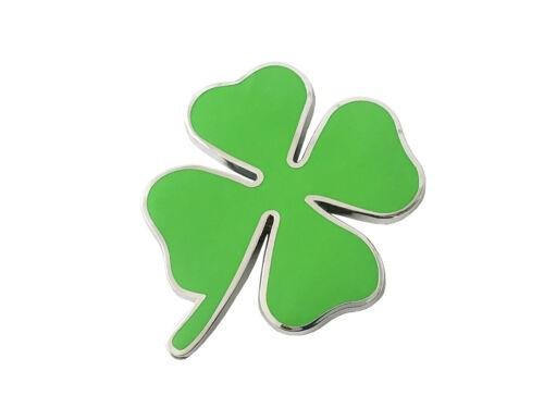 Large Four Leaf Clover Lucky Clover Metal Sticker Vehicle Badge Emblem