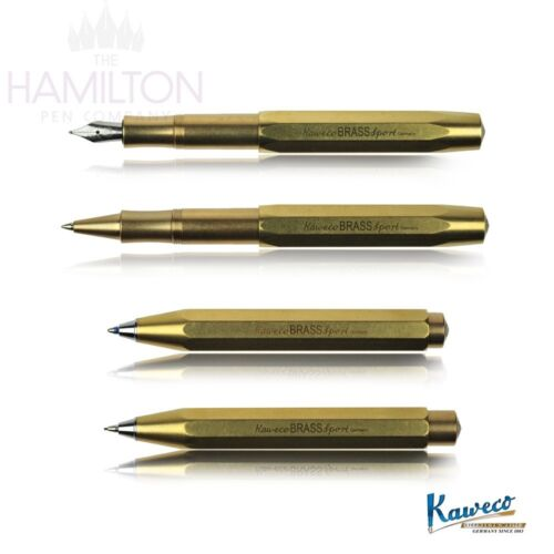 KAWECO BRASS SPORT Full range of writing systems in solid brass