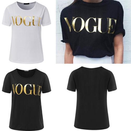 New Fashion t-Shirt Frauen Vogue Printed t-shirt Women Tops Tee Shirt BXJ