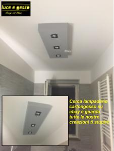 Dettagli su lampadario moderno in cartongesso con faretti per bagno cucina  camera da letto