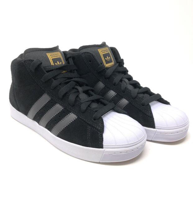 Adidas Originals Pro Model Vulc Advance Mens Hi Top Trainers Black BY4096 M17