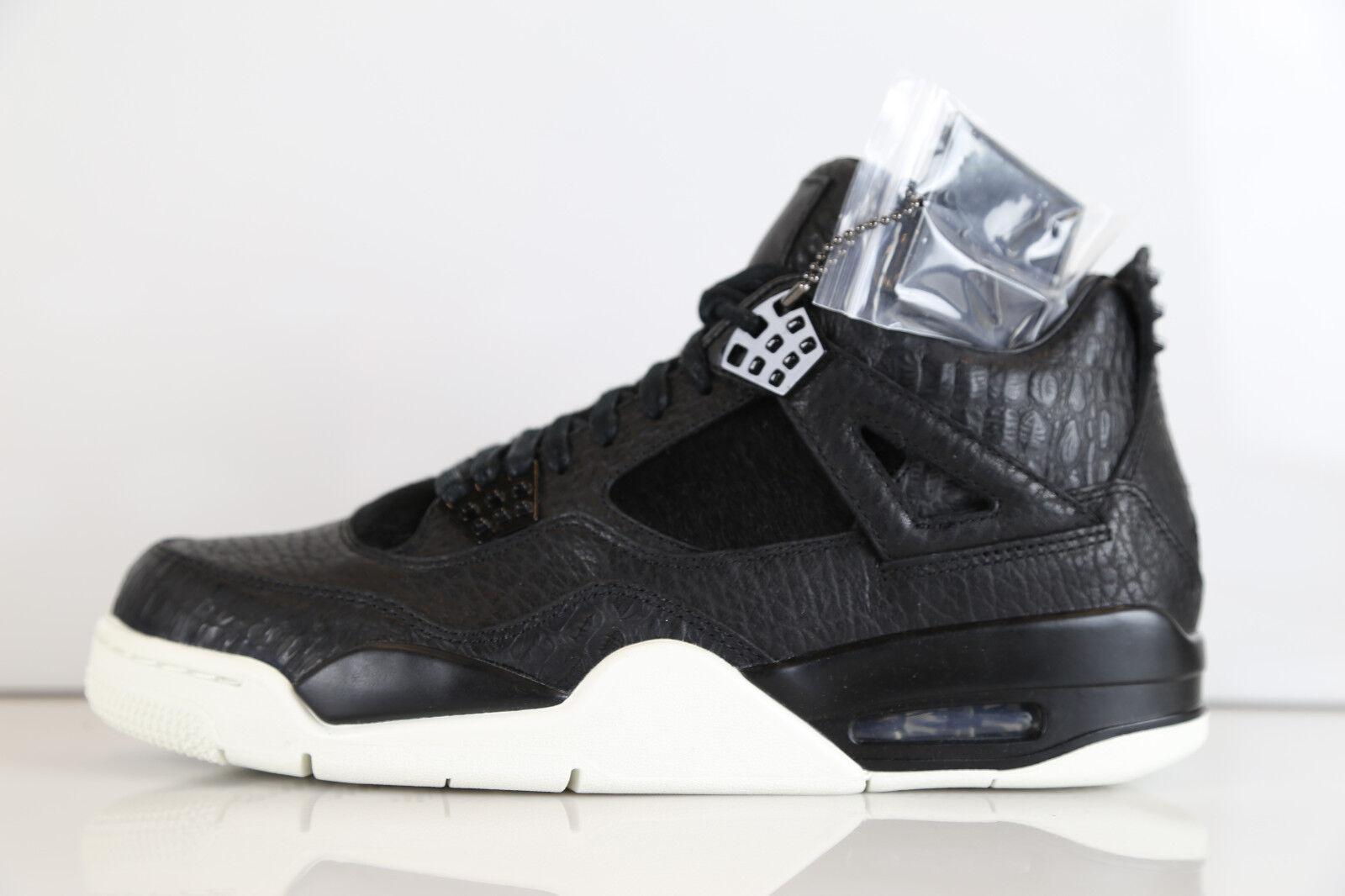 Nike Air Jordan Retro 4 Premium Pony Hair Black 819139-010 8-14 pinnacle 11 1 3