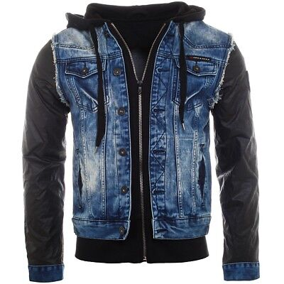 cipo & baxx herren jeans jacke c-1290 blau xxl