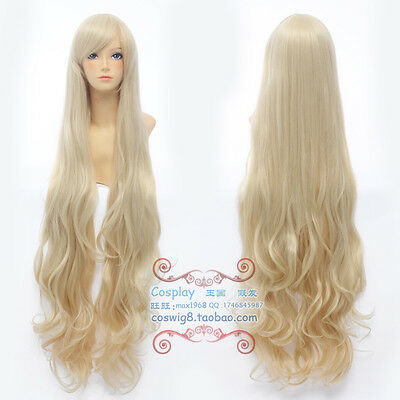 Kagerou Project Sakura Jasmine Marry Pretty Long Light Blonde Wavy Cosplay Wig
