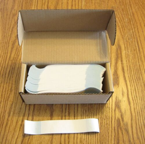 1000 SELF SEALING BLANK WHITE CURRENCY STRAPS  BANDS MONEY BILL BAND STRAP PMC