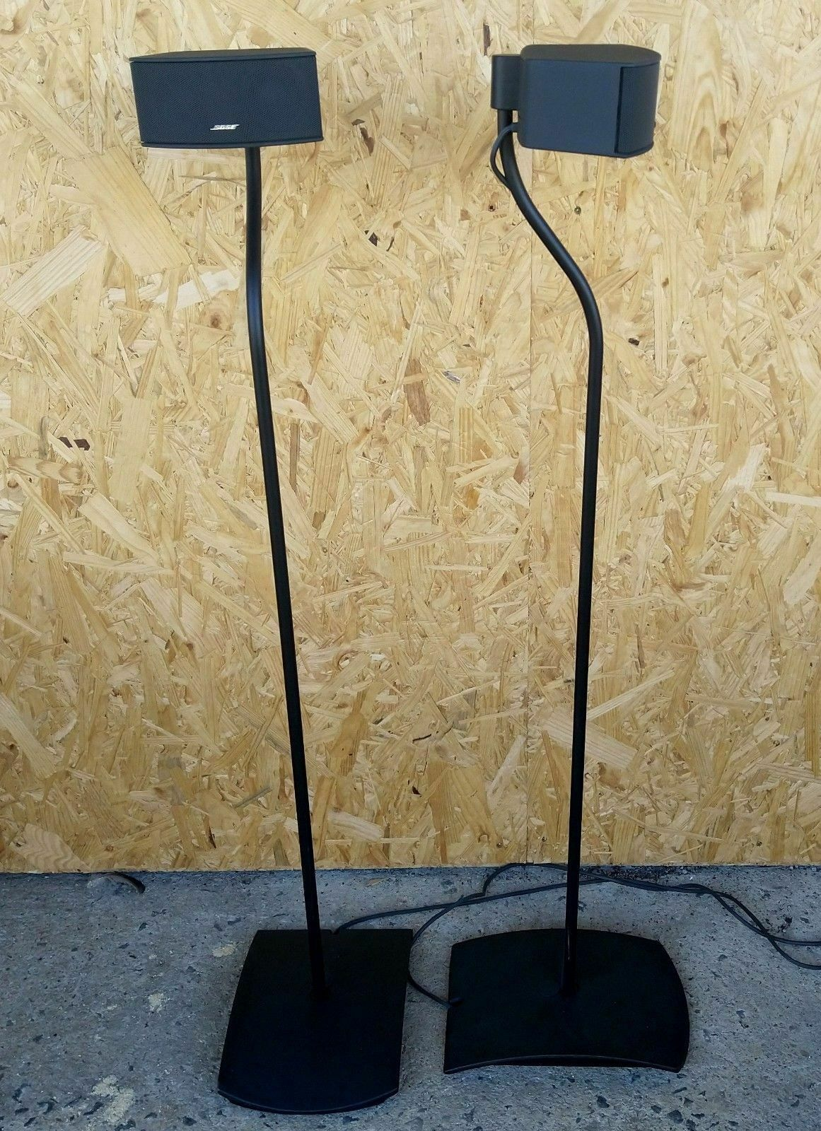 1 Paar Bose UFS 20 Bodenstative Lautsprecherständer Weiss starken Gebrauchspuren
